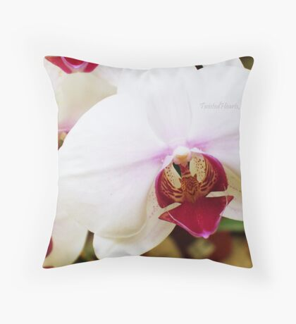 Tiger Orchid. Throw Pillow