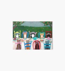 Lámina rígida Fiesta de té de gatos de primavera