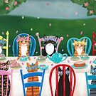 Springtime Cats Tea Party by Ryan Conners