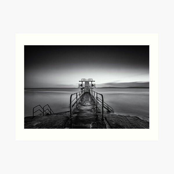 Salthill Galway Ireland Blackrock Diving Tower Seascape Art Print