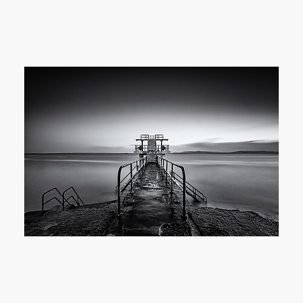 Salthill Galway Ireland Blackrock Diving Tower Seascape Photographic Print