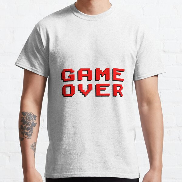 Classic Arcade Game Over Message Classic T-Shirt