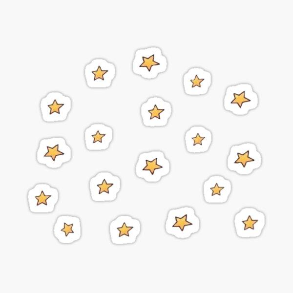 gelbe Sterne Sticker
