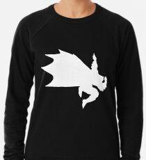 White Bat-Dab Lightweight Sweatshirt