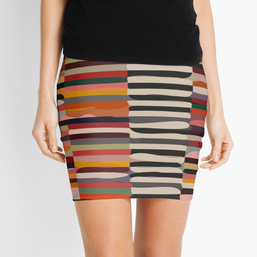 Etchnic Scandinavian Pattern Mini Skirt