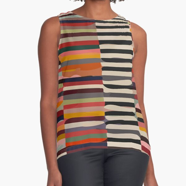 Etchnic Scandinavian Pattern Sleeveless Top