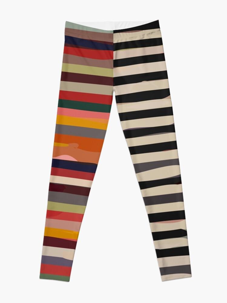 Alternate view of Etchnic Scandinavian Pattern Leggings