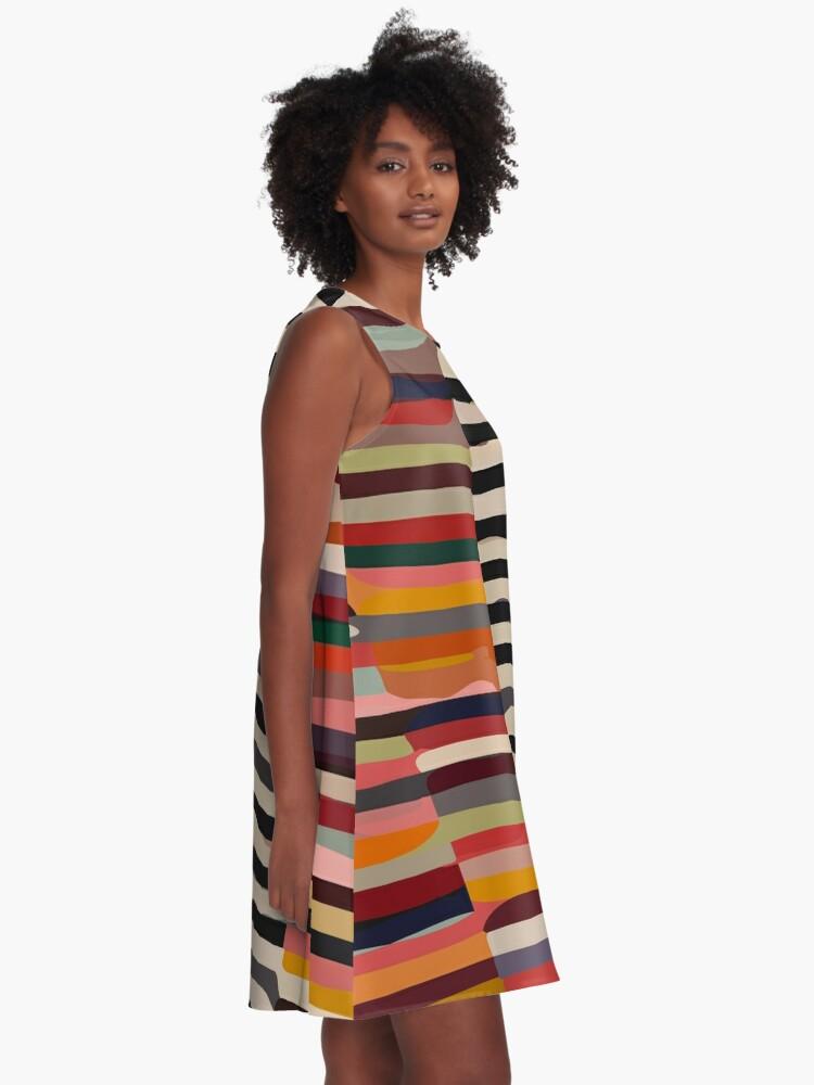 Alternate view of Etchnic Scandinavian Pattern A-Line Dress