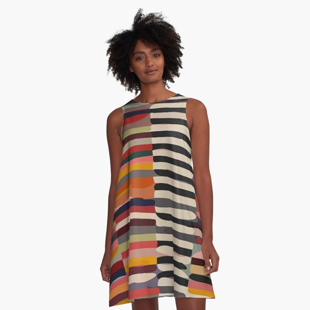 Etchnic Scandinavian Pattern A-Line Dress