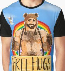 ADAM LIEBT HUGS - GAY PRIDE Grafik T-Shirt