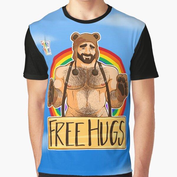 ADAM LIKES HUGS - GAY PRIDE Graphic T-Shirt