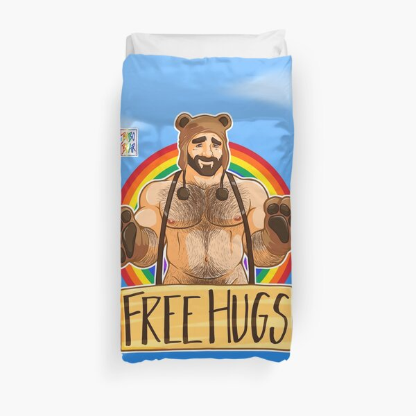 ADAM LIKES HUGS - GAY PRIDE Duvet Cover
