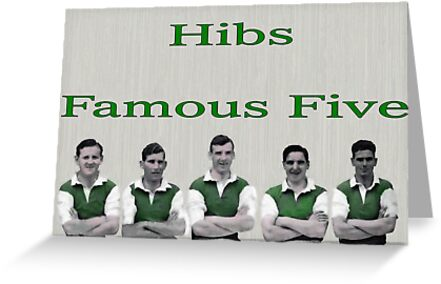 HIBERNIAN FC BADGE FAMOUS FIVE