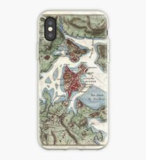 Vintage Map of Boston Harbor (1807) iPhone Case