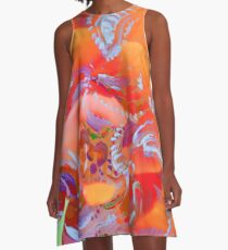 natural swirls on pink A-Line Dress