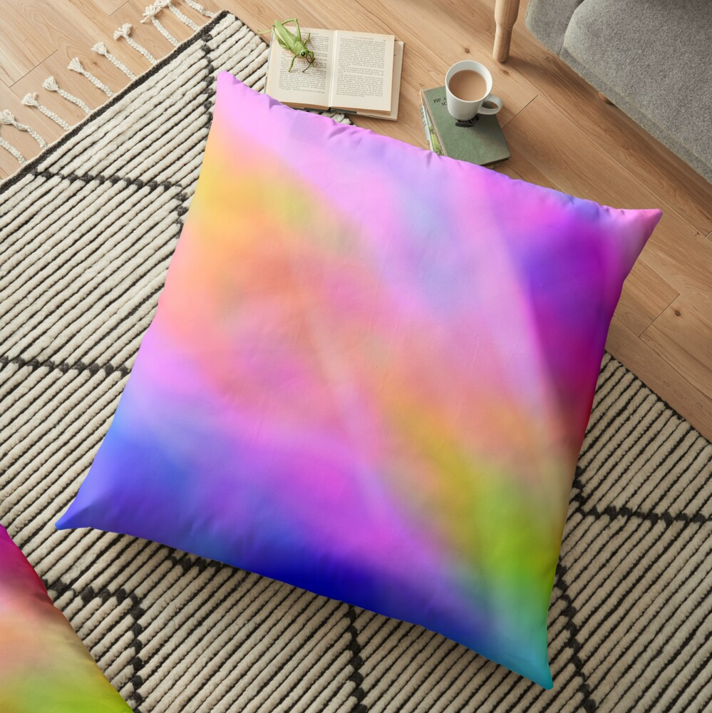 Rainbow pattern Floor Pillow