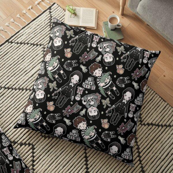 Kooky Kids Collection (Wednesday, Pugsley and Pubert) in Black Floor Pillow