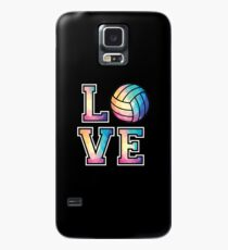 Love Volleyball T-Shirt Low Poly Volleyball Player Gift Tee Case/Skin for Samsung Galaxy