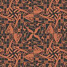 Geometric Print - Orange by -Patternation-