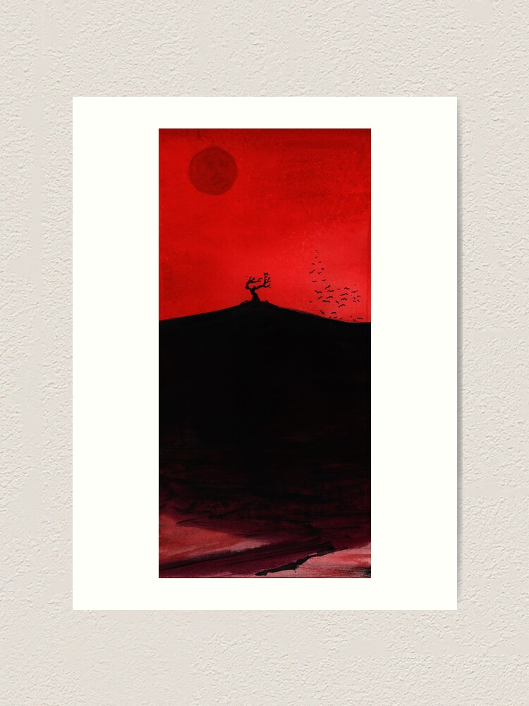 Alternate view of Red Dawn Art Print