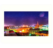 Star Trails Over The City Art Print