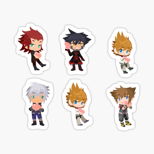 Kingdom Hearts Valentines Set Sticker