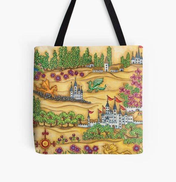 Princess Ingeborg Dragons Map All Over Print Tote Bag
