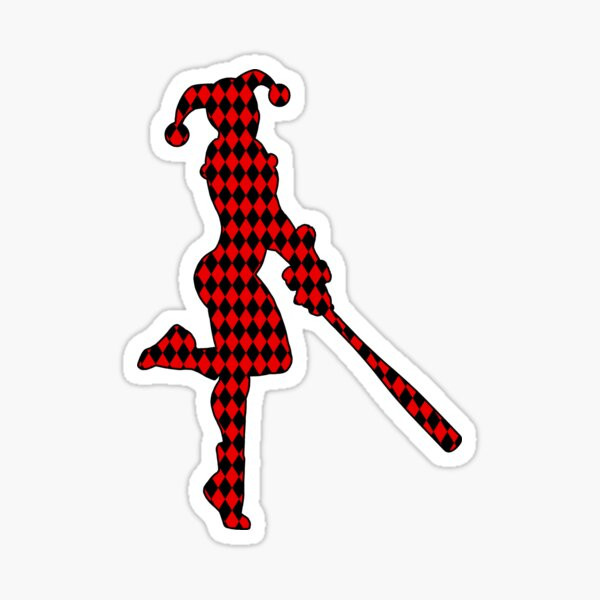 The Red and Black Harlequin Sticker