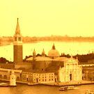 Church of San Giorgio Maggiore sepia, Venice, Italy by georgelim