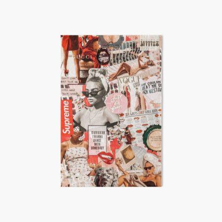 red retro collage  Art Board Print