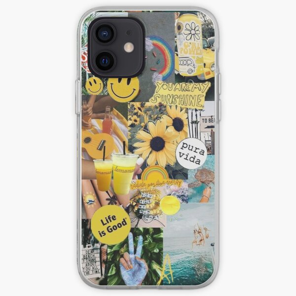 yellow sunshine collage  iPhone Soft Case