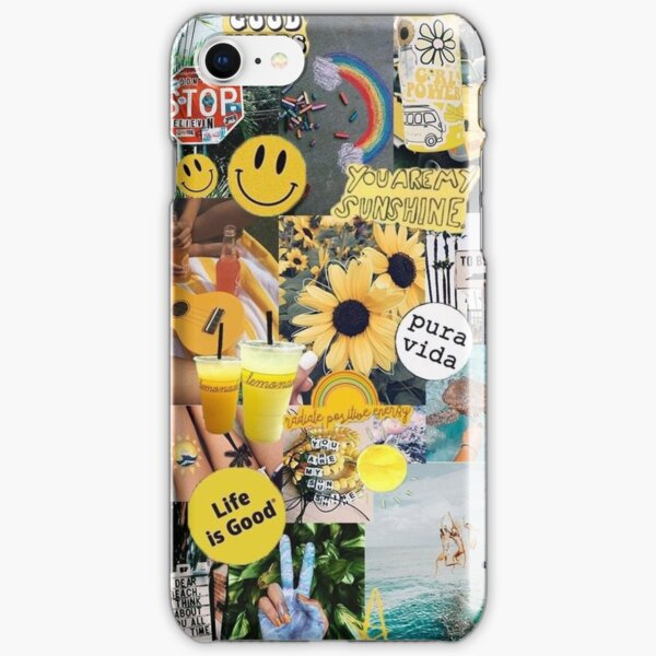 yellow sunshine collage  iPhone Snap Case