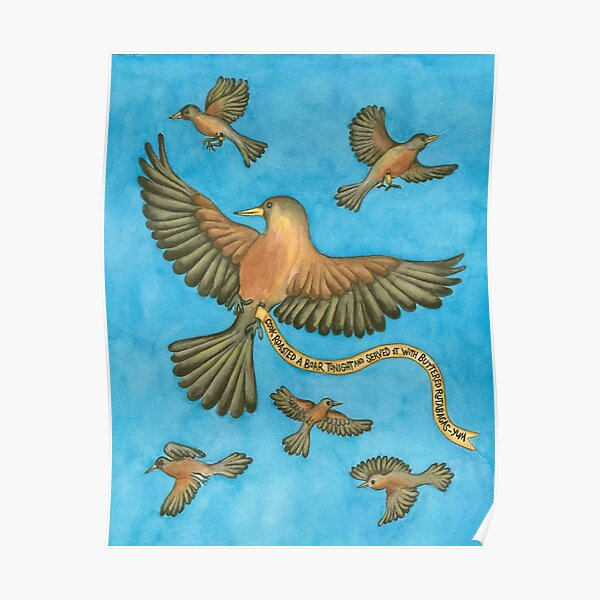 Robins Chirping Poster