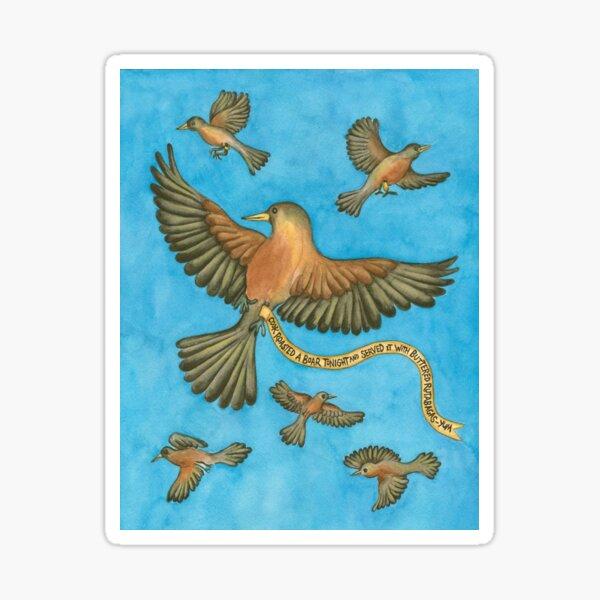 Robins Chirping Sticker