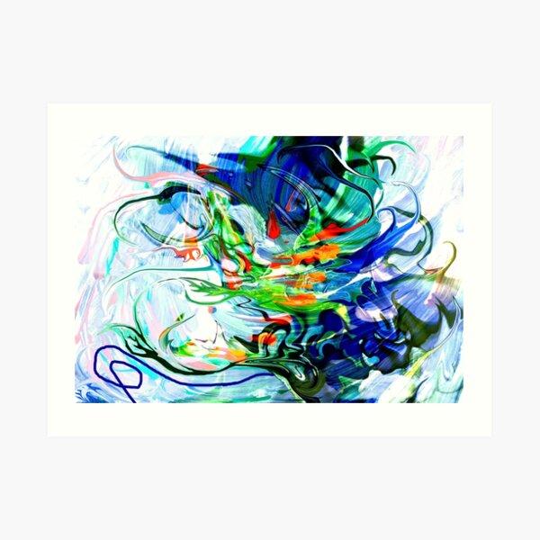 liquid moving elements Art Print