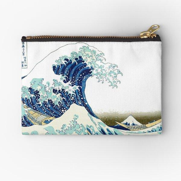 HOKUSAI. The Great Wave off Kanagawa, BRIGHTENED. Zipper Pouch
