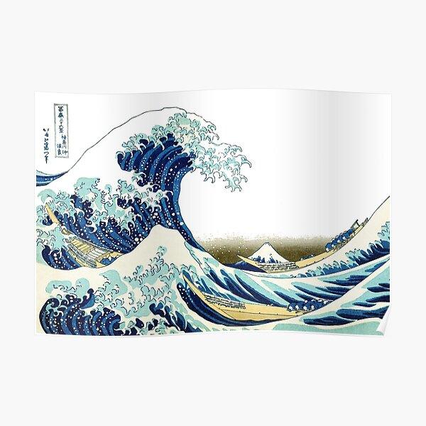 Hokusai, The Great Wave off Kanagawa, BRIGHTENED. Poster