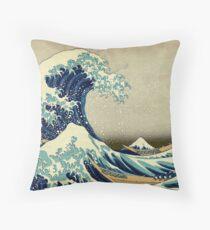 Hokusai, The Great Wave off Kanagawa, Japan, Japanese, Wood block, print Kissen