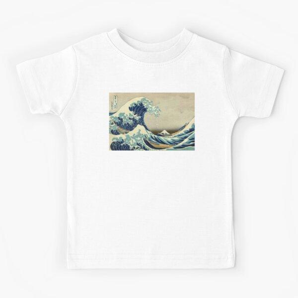 Hokusai, The Great Wave off Kanagawa, Japan, Japanese, Wood block, print. Kids T-Shirt