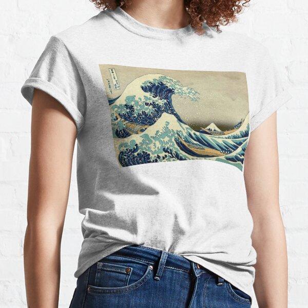Hokusai, The Great Wave off Kanagawa, Japan, Japanese, Wood block, print. Classic T-Shirt