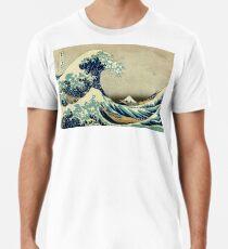Hokusai, The Great Wave off Kanagawa, Japan, Japanese, Wood block, print Men's Premium T-Shirt