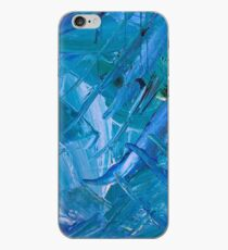Blue Painting Watercolor Abstract Art iPhone Case