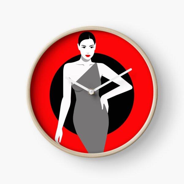"""Wanduhr Design """"Red Passion"""" von Ekaterina Moré / Ekaterina More Uhr"""