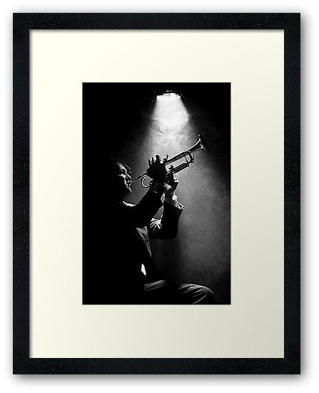 Self Portrait - Amongst the smoke and stage lights #1 by Mark Elshout