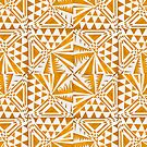 Paper Tiles - Yellow by -Patternation-