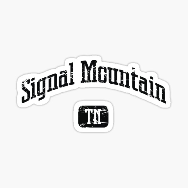 Signal Mountain Tennessee TN Vintage Style Faded Tee from Hometown Tees Sticker