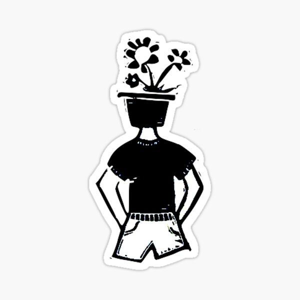 (flower)pothead Sticker