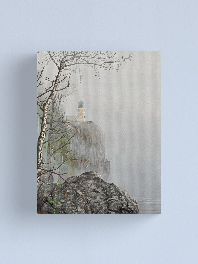 Alternate view of North Shore Lighthouse in the Fog Canvas Print