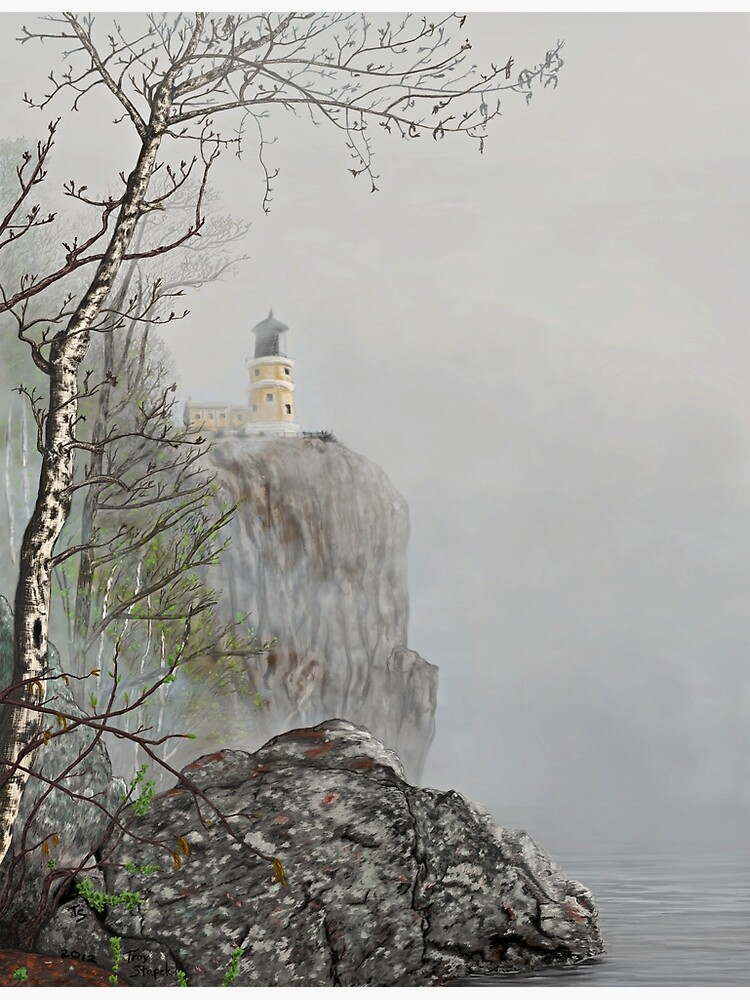 North Shore Lighthouse in the Fog by tsarts