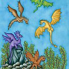 Dragons Learning to Fly by astrongwater